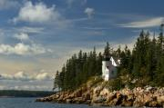 Bass Digital Art Prints - Bass Harbor Lighthouse Print by Alexander Mendoza