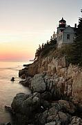 Ocean Shore Framed Prints - Bass Harbor Lighthouse Framed Print by Eric Foltz