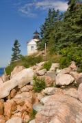 Maine Lighthouses Photo Posters - Bass Harbor Lighthouse Mt Desert Island Maine Poster by Louise Heusinkveld