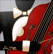 Black Tie Paintings - Bass by Lori McPhee