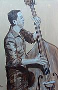 Rockabilly Paintings - Bass Man II by Pete Maier