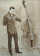 Rockabilly Paintings - Bass Man by Pete Maier