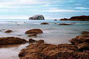 Berwick Framed Prints - Bass Rock Framed Print by Amanda Finan