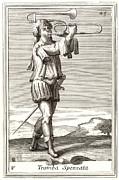 Bass Trombone, 1723 Print by Granger