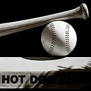Baseball Bat Photo Metal Prints - Bat and Ball Metal Print by David Bowman