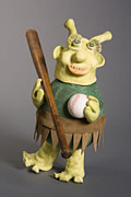 Baseball Art Sculptures - Bat Boy by Ellen Connolly