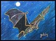Vampire Bat Paintings - Bat by Paintings by Gretzky