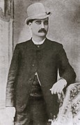 Mustaches Metal Prints - Bat Masterson 1853-1921, Sheriff Metal Print by Everett