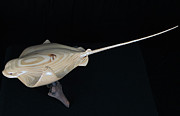 Wildlife Sculptures - Bat Ray 2 by Kjell Vistnes