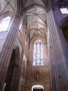 Hand Crafted Art - Batalha Gothic Monastery VIII Portugal by John A Shiron