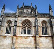 Hand Crafted Art - Batalha Gothic Monastery XIV Portugal by John A Shiron