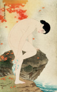 Spiritual Teacher Paintings - Bath Aroma by Ito Shinsui