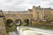 England Art - Bath England Spillway by Mike McGlothlen