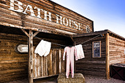 In The Bath Prints - Bath House in Old Tucson Print by Wendy White