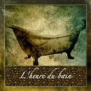 Bathroom Art Prints - Bath Time No.1 Print by Bonnie Bruno