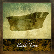 Bath Digital Art Posters - Bath Time No.2 Poster by Bonnie Bruno