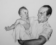 Photo Realism Drawings - Bath Time by Patrick Entenmann