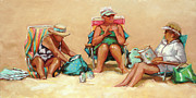 Chatham Painting Originals - Bathing Beauties by Sue Dragoo Lembo