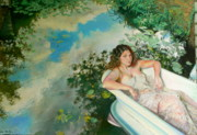 Bathing Paintings - Bathing Beauty by Cynda Valle