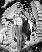 Esther Framed Prints - Bathing Beauty, Esther Williams, 1944 Framed Print by Everett