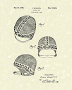 Cap Drawings Posters - Bathing Cap 1936 Patent Art Poster by Prior Art Design