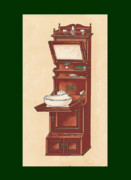 Mahogany Mixed Media Posters - Bathroom Picture Wash stand Poster by Eric Kempson