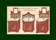 Mahogany Mixed Media Posters - Bathroom Picture Wash stand Three Poster by Eric Kempson