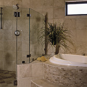 Architectural Design Prints - Bathroom Print by Robert Pisano