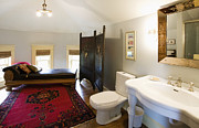 Wood Floors Prints - Bathroom with Sitting Area Print by Andersen Ross