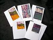 Cotton Muslin Art - Batik Greeting Cards by Kristine Allphin