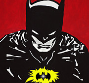 Comic Book Drawings Posters - Batman In Pain Poster by Robert Margetts
