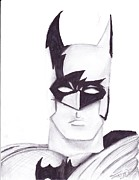 Signed Drawings Prints - Batman Print by Jordan Jackson