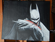 Batman Painting Originals - Batman the Dark Knight  by Ana-Maria Mihaela Galeteanu