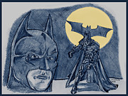 The Dark Knight Drawings - Batman-The Dark Knight by Chris  DelVecchio