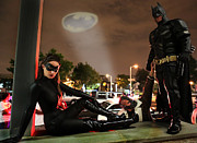 Catwoman Framed Prints - Batman The Dark Knight Rises Newark New Jersey Premiere Event  Framed Print by Lee Dos Santos