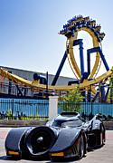 Batman's Ride And Batman - The Ride Print by Ricky Barnard