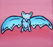 Bat Painting Metal Prints - Batrick Metal Print by Jera Sky