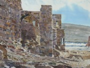 Remains Paintings - Batroun Ramparts Lebanon by Martin Giesen