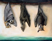 Surreal Paintings - Bats by Leah Saulnier The Painting Maniac