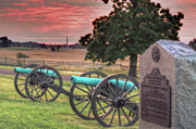 Confederate Monument Prints - Battery F Cannon Gettysburg Battlefield Print by Randy Steele