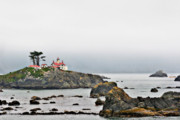 Panoramic Ocean Originals - Battery Point Lighthouse California by Christine Till
