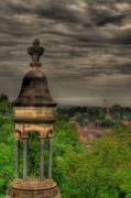 Grave Photo Originals - Battey Mausoleum Overlooking Downtown Rome by Jason Blalock