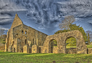 Hastings Posters - Battle Abbey Ruins Poster by Chris Thaxter