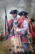 Colonial Scene Prints - Battle Drums Print by Randy Steele