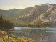 Wyoming Paintings - Battle Lake by Chula Beauregard