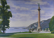 Hudson Valley Paintings - Battle Monument  by Glen Heberling