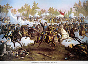 Cedar Creek Prints - Battle Of Cedar Creek 1864 Print by Granger