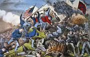 Confederate Flag Photo Posters - Battle Of Chattanooga 1863 Poster by Granger