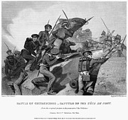 U.s Army Framed Prints - Battle Of Churubusco, 1847 Framed Print by Granger