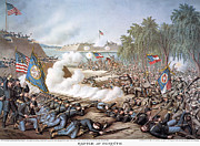Confederate Flag Art - Battle Of Corinth, 1862 by Granger